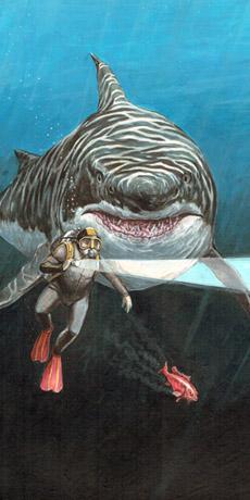Ralph and monster shark